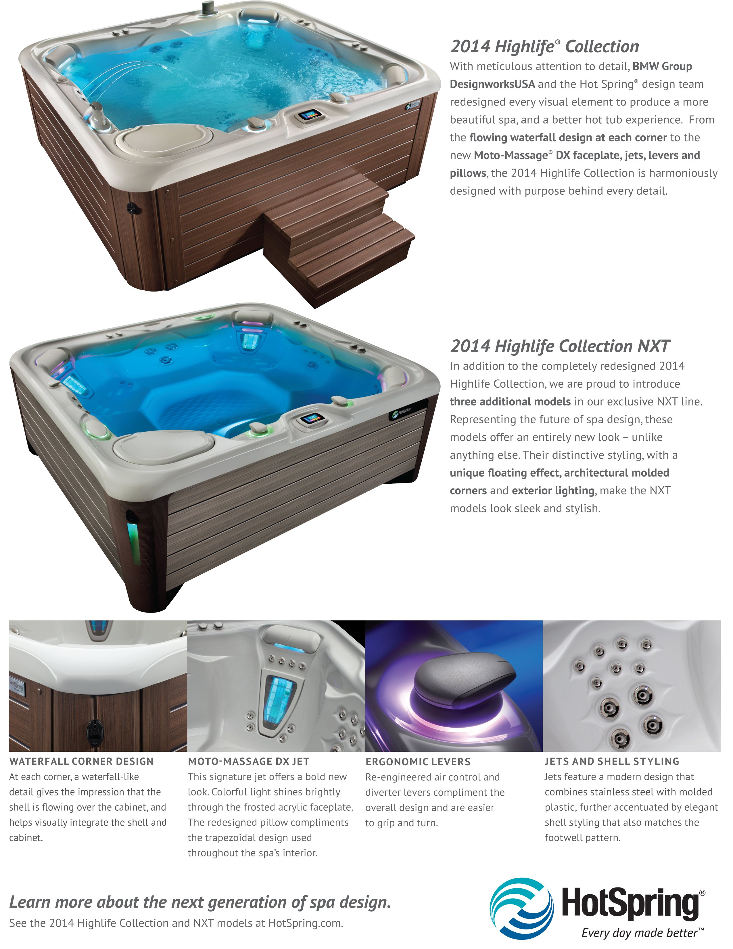 2014 Hot Spring Highlife Collection and NXT Collection Hot