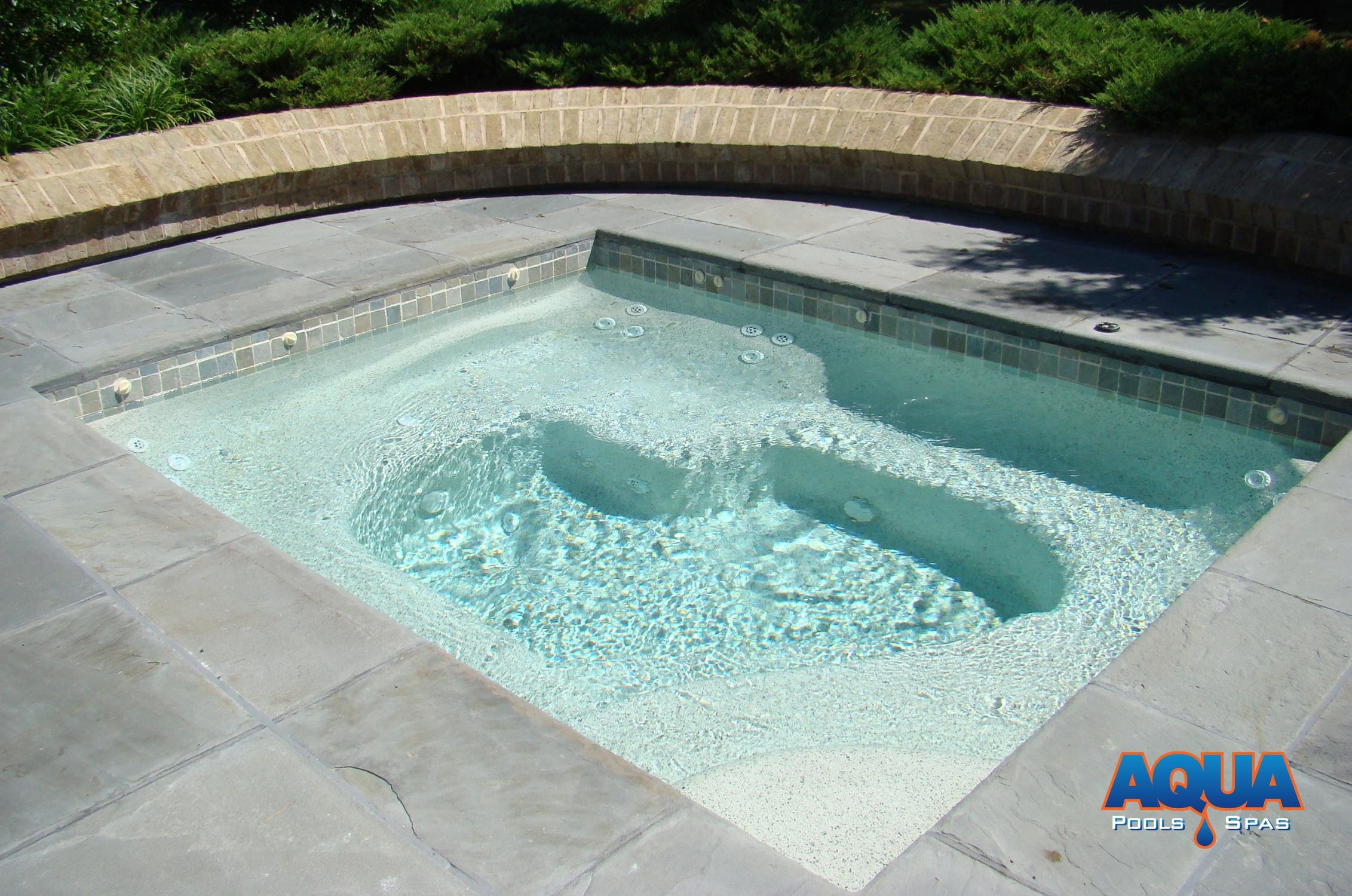 Custom Spas Custom Gunite Hot Tubs AQUA Pools & Spas Easton Maryland