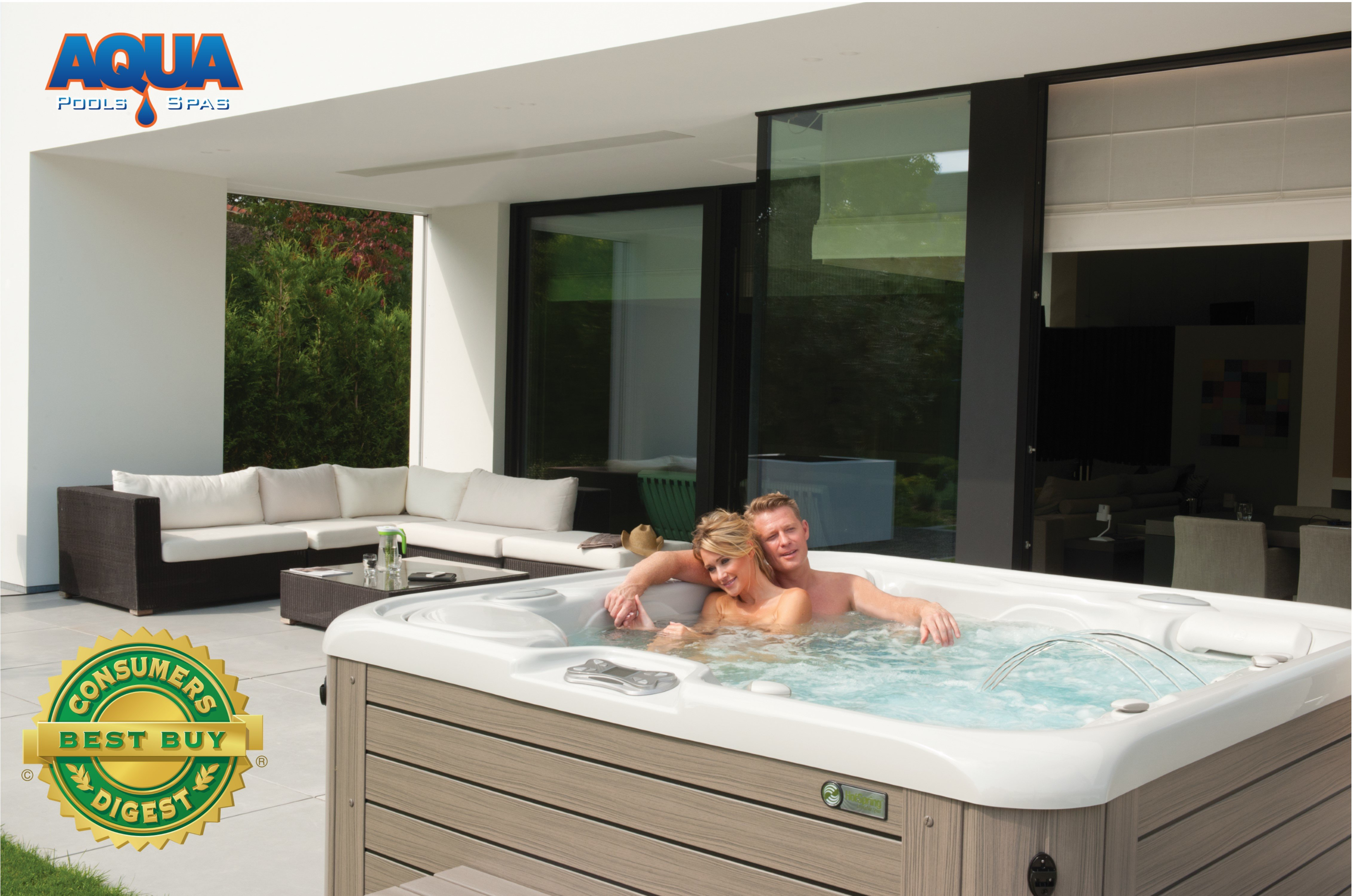 wayfair in and round garden portable for tubs best spa play hot plug tub outdoor spas design ideas with